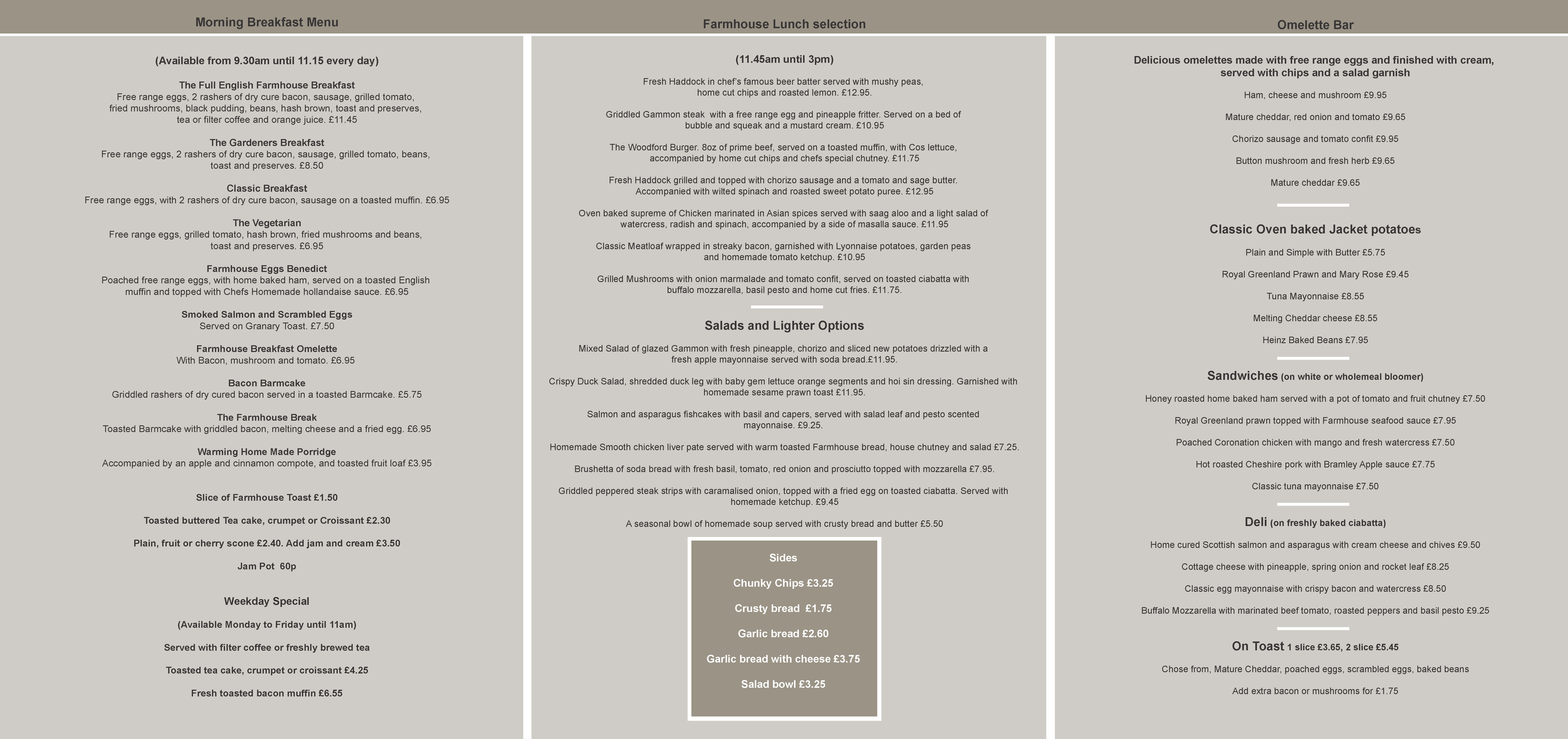 Day By Day Cafe Breakfast Menu